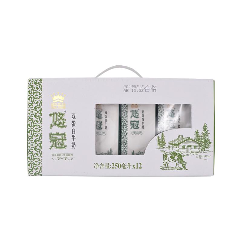 海河悠冠双蛋白牛奶提250ml*12盒/箱