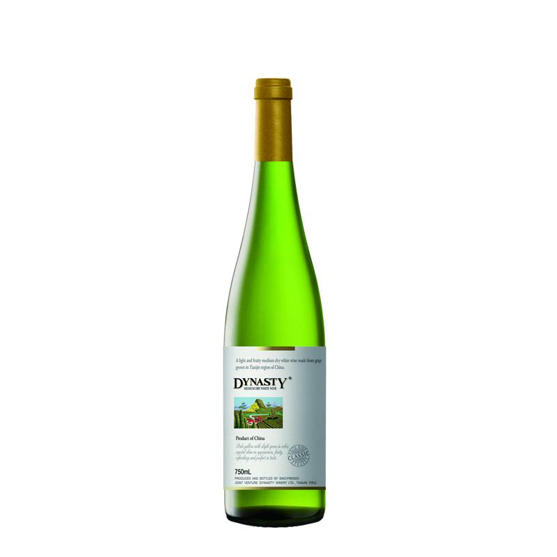 预售——王朝经典半干白葡萄酒  750ml